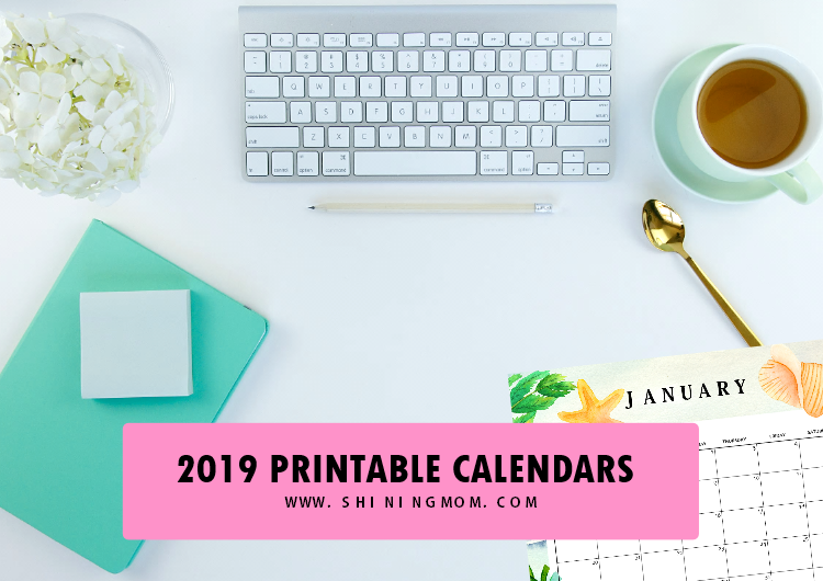 Lovely 2019 Printable Calendar Weekly Planner Freebie