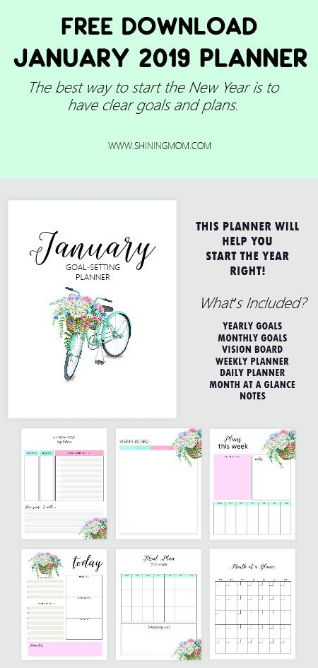 January 2019 Goals Planner