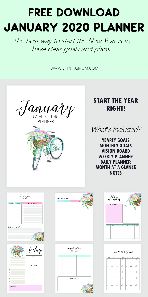 January 2020 Goals Planner
