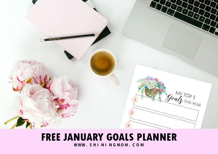 January 2019 Goals Planner Free Printable