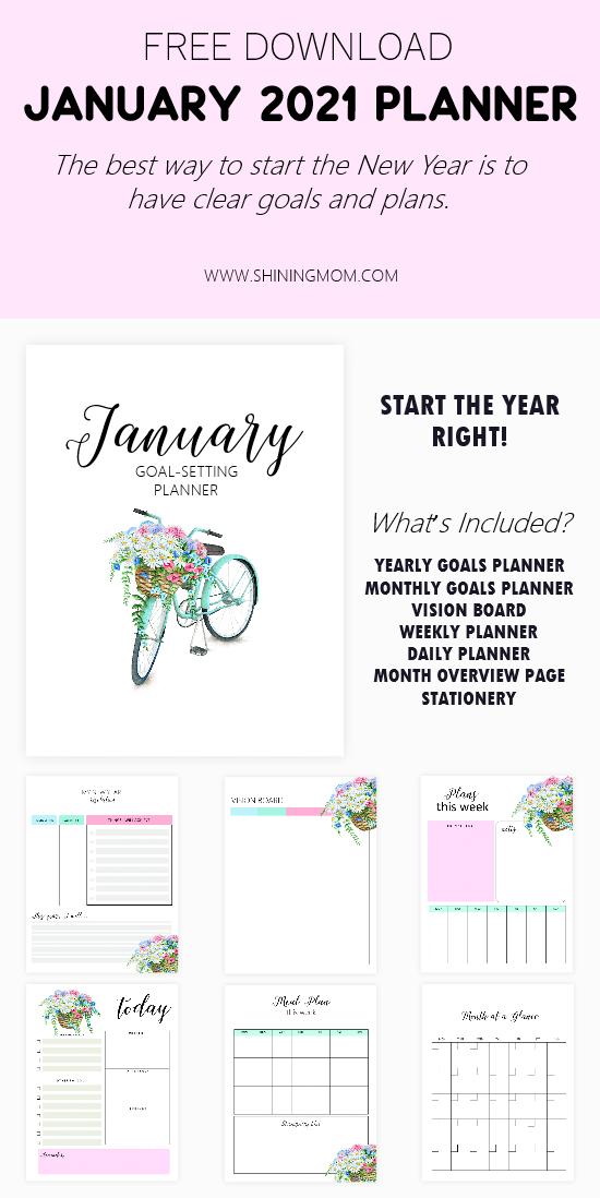 January Planner 2021