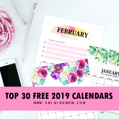 Top 30 Free 2019 Printable Calendar Planners: Awesome Designs!