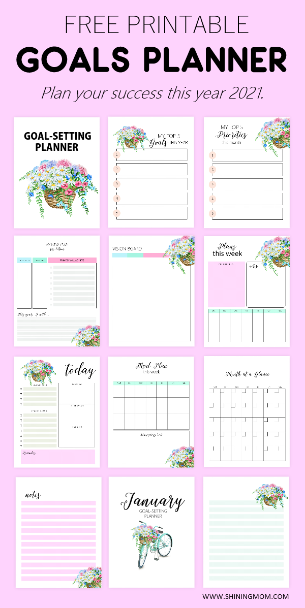 2021 Goals Planner Printable
