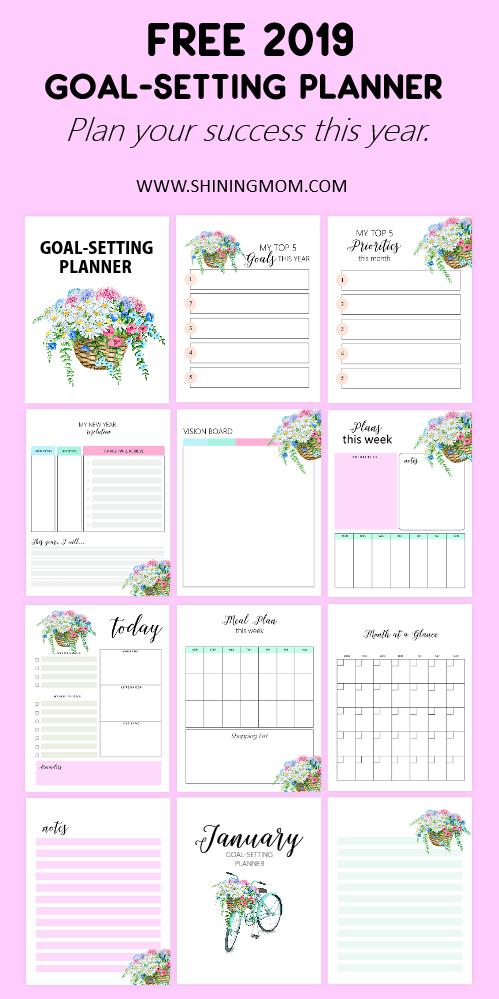 Free goal setting planner 2019