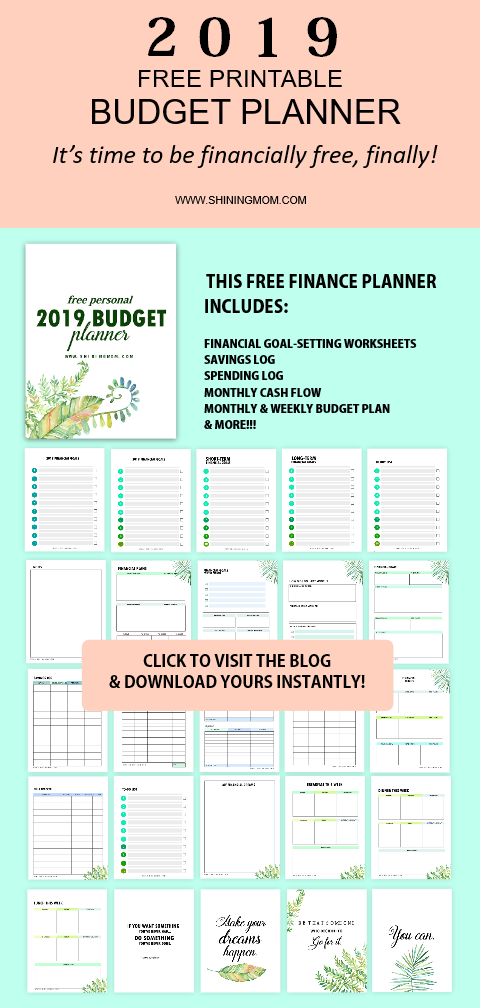 graphic relating to Printable Budget Planner known as The Least complicated Totally free Spending plan Planner in the direction of Employ in just 2019!