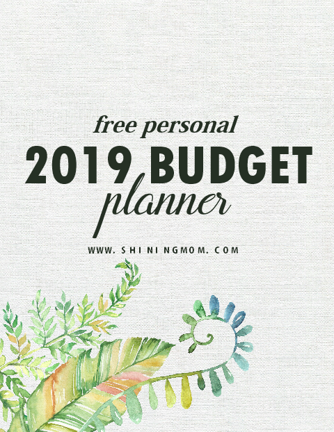 2019 budget planner free printable