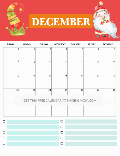 2019 free printable calendar for kids  fun  cute  colorful