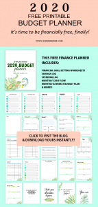 2020 budget planner free printable