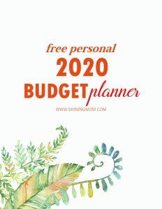 2020 budget planner