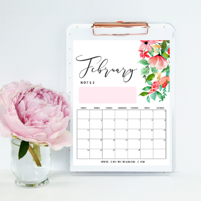 February 2019 Printable Calendar :15 Fresh Designs to Love!