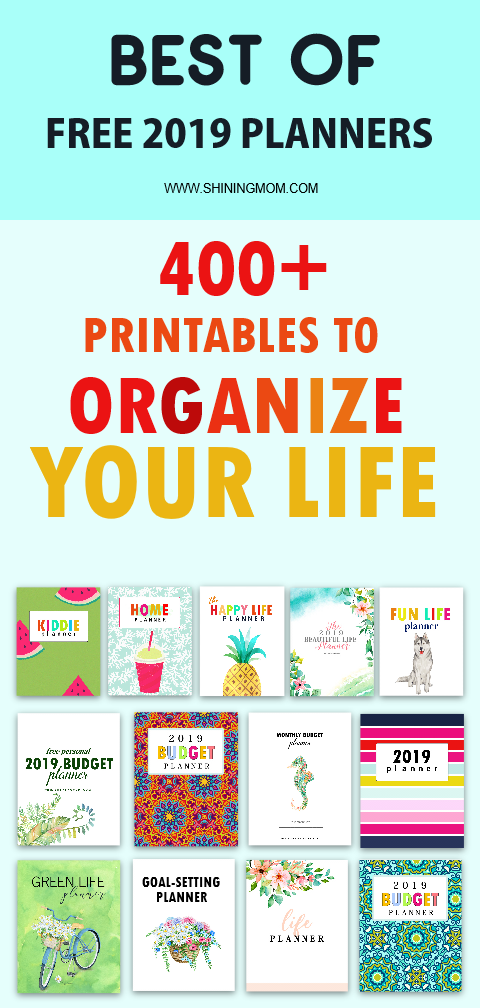50 Best 2019 Planners in PDF to Print: All Free & Pretty!