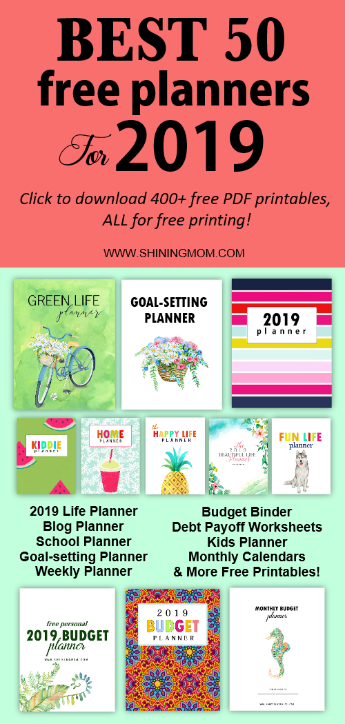 50 Best 2019 Planners In Pdf To Print All Free Pretty