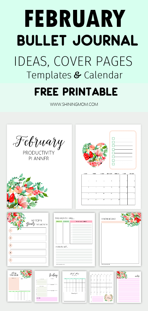 February Bullet Journal and Planner