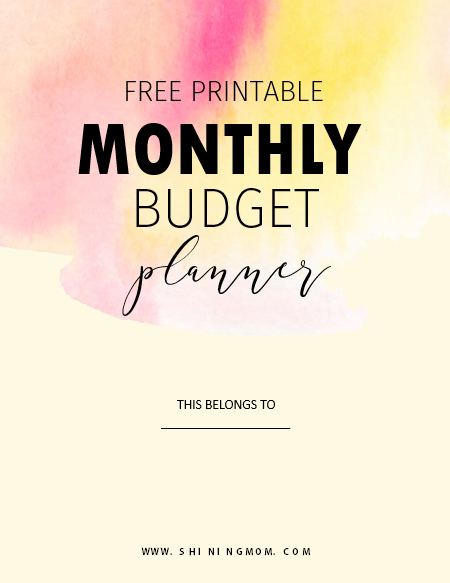 monthly budget binder