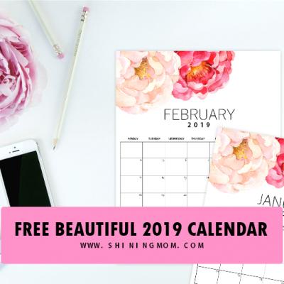 2019 Printable Monthly Calendar: Modern, Minimal & Beautiful