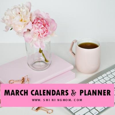 Get Your March 2019 Calendar & Planner!
