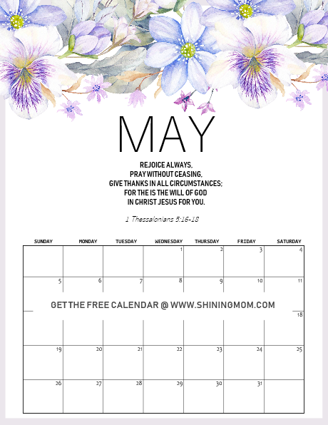 free printable may 2019 calendar  15 awesome designs