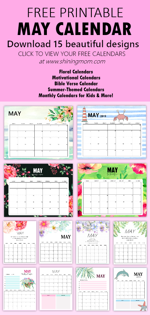 May calendar free printable