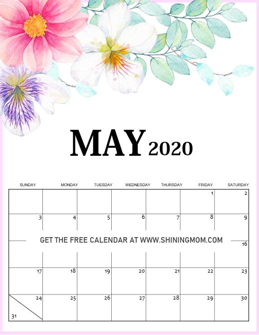 My 2020 calendar