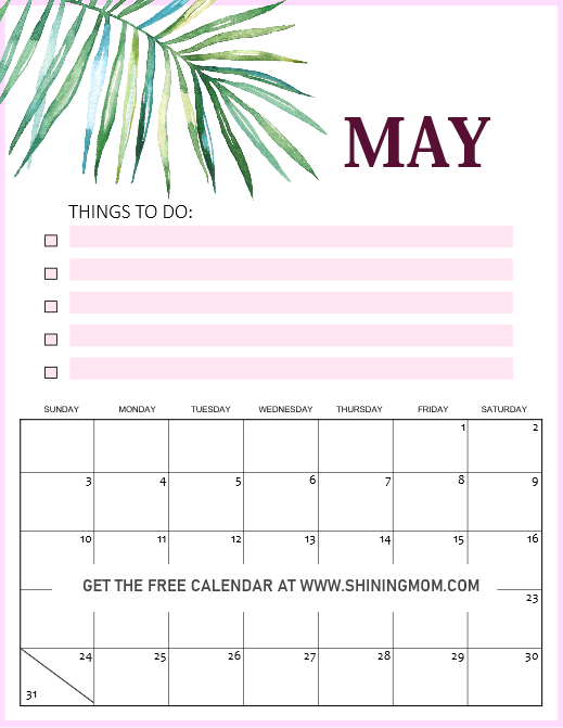 My 2020 calendar printable