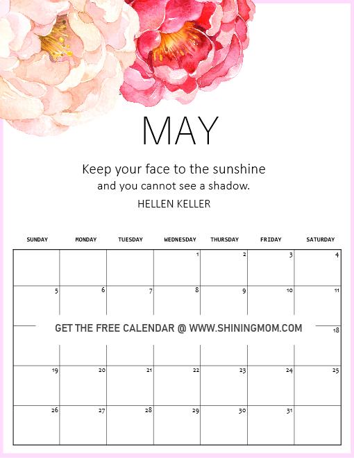 My 2020 calendar motivational