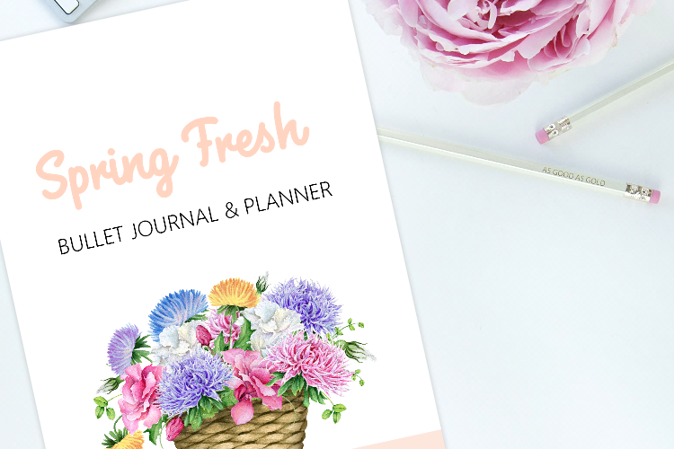 FREE Spring Bullet Journal Layout with Goals Planner: 30+ Pages!