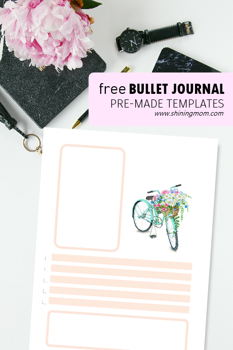 bullet journal layout template