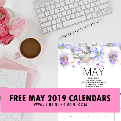 Free Printable May 2019 Calendar Planners: 15 Awesome Designs!