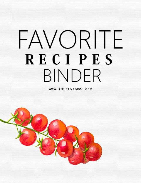 favorite recipe binder printable