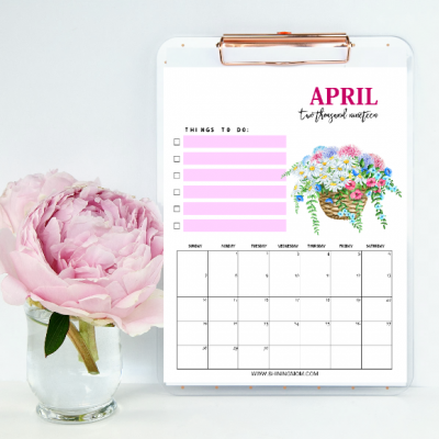 Free Printable April 2019 Calendar Planners: 16 Awesome Designs!