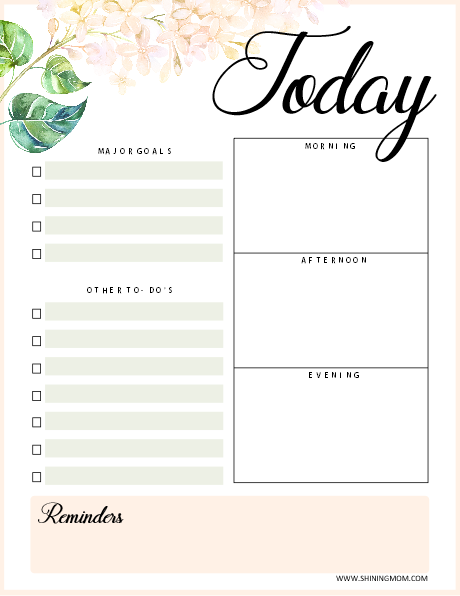 Today planner