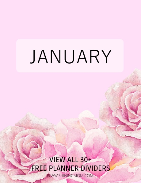 January planner printable cover