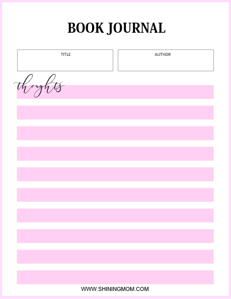 photograph about Reading Journal Printable identify 10 Looking through Log Printable Planners for Every single Ebook Partner!