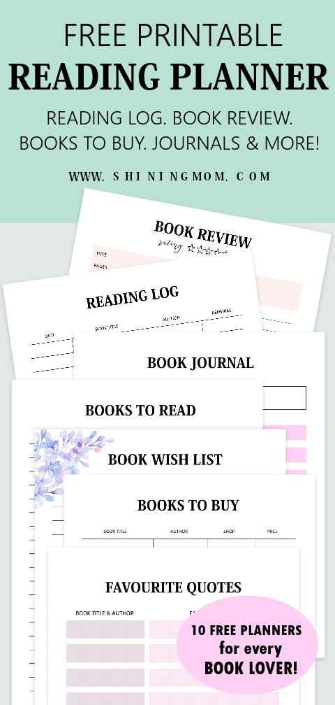 picture about Books I've Read Printable named 10 Reading through Log Printable Planners for Each E book Spouse!