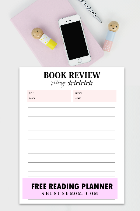 book review printable template