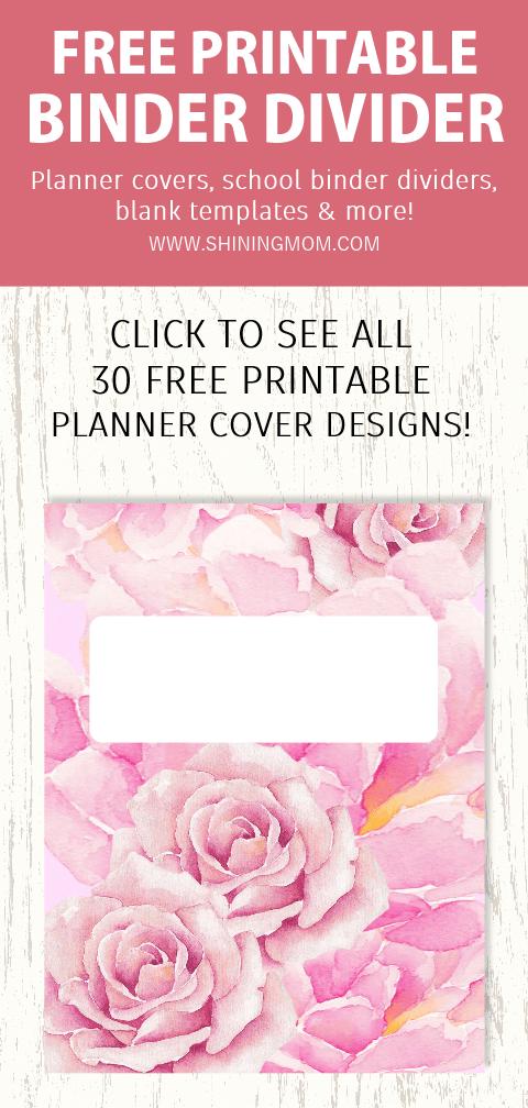 blank binder divider printables