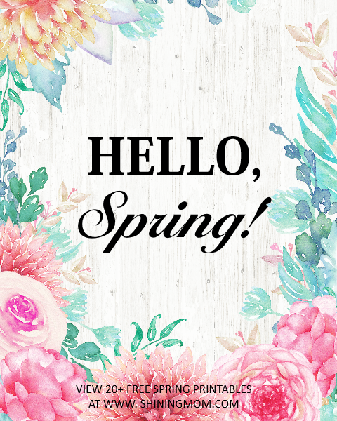 download this hello, spring wall art for free! #spring #wallart