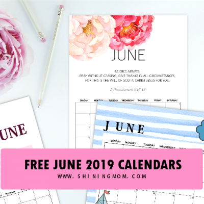 Free Printable June 2019 Calendars: 12 Awesome Designs!
