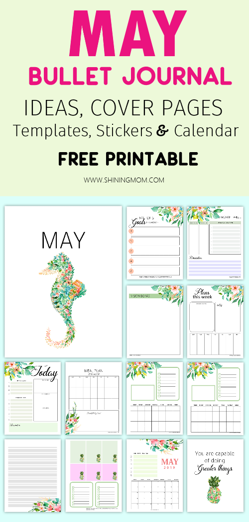 image regarding Bullet Journal Printable identify No cost Printable Might Bullet Magazine: 15+ Web pages!