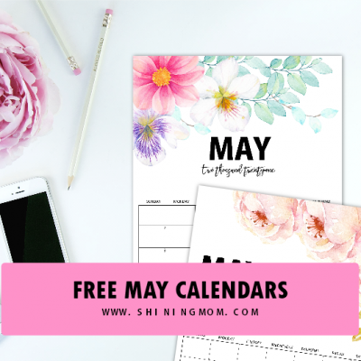 Free Printable Calendar for May: 6 Designs to Choose From!