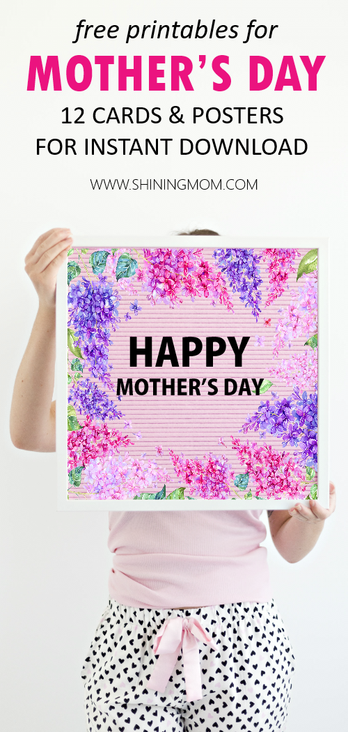 Mother's Day cards free printables