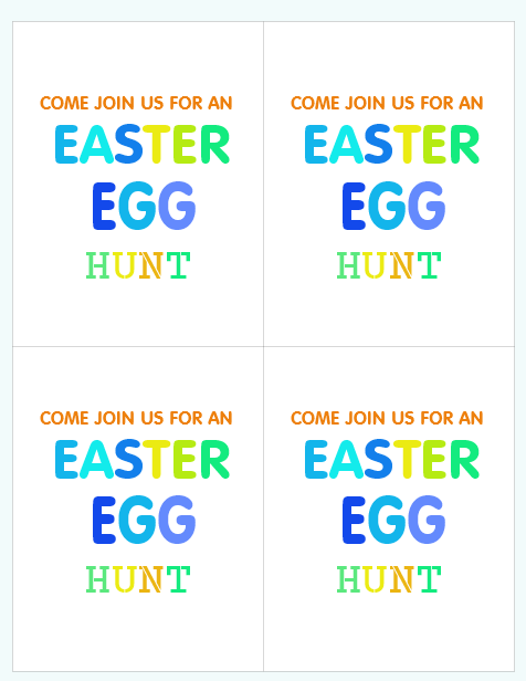 Easter invitation free printables