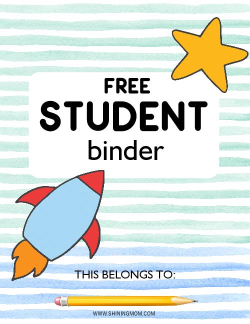 kids student binder