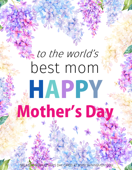 12 FREE Printable Mother's Day Cards: Beautiful and ...