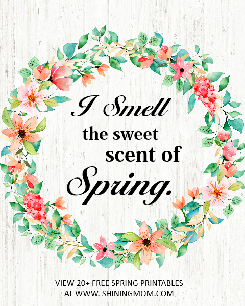 I smell the sweet scent of spring.