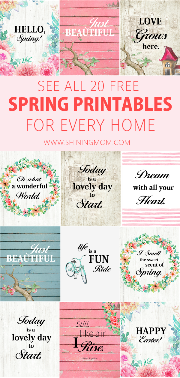 Decorate your home with these lovely spring printables. Hang them on your wall or frame them, they will sure add the refreshing spring vibe to your home! Easter printables also included! #springprintables #easter #spring #wallart #freeprintables