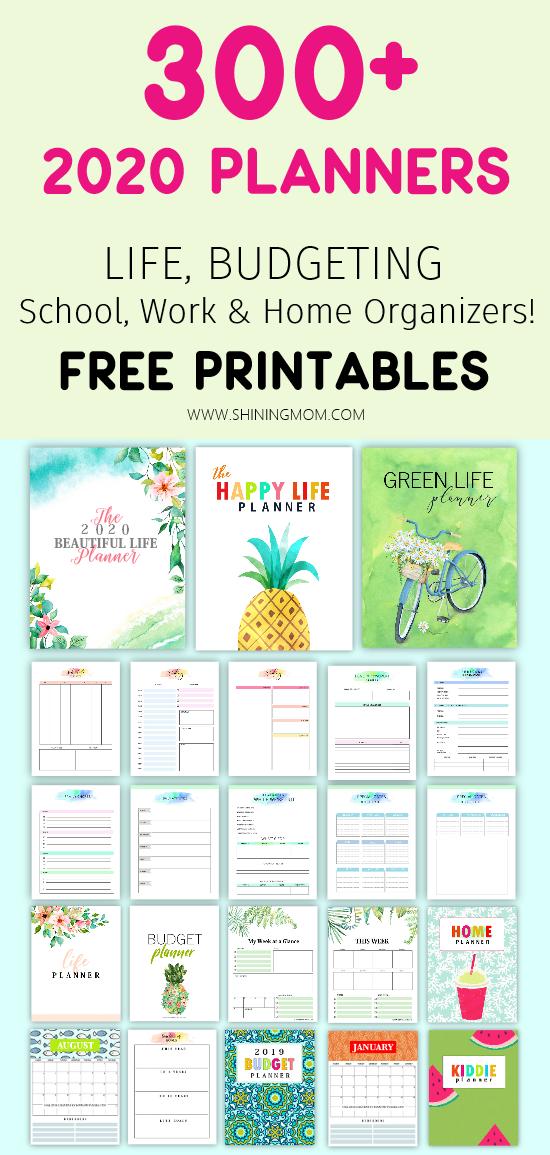 2020 planner free printables