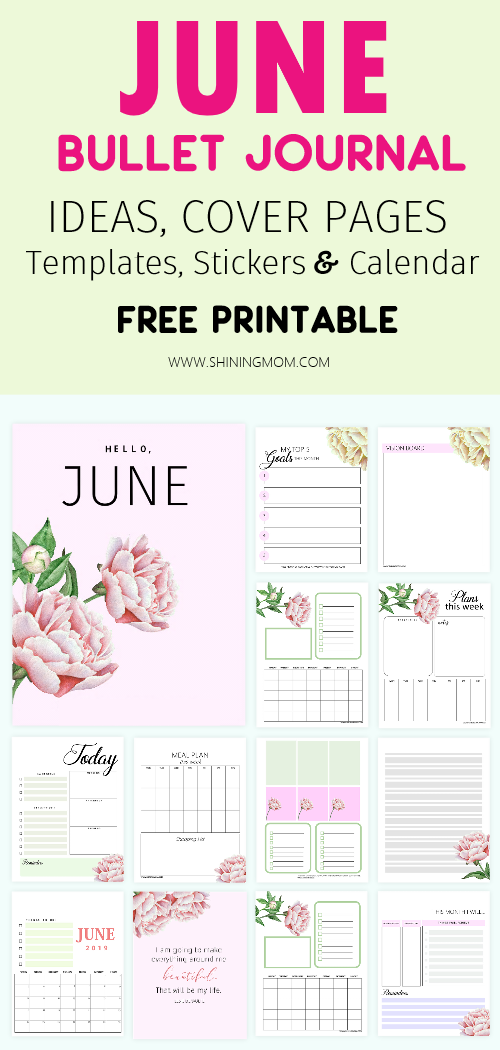 June Bullet Journal Templates and Ideas