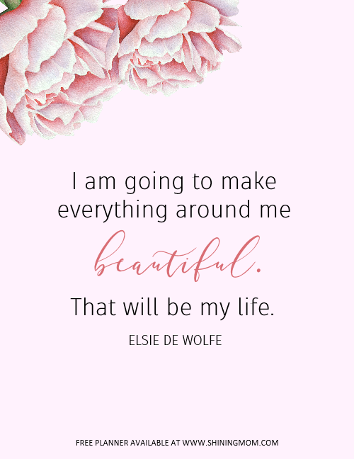 Beautiful printable quote