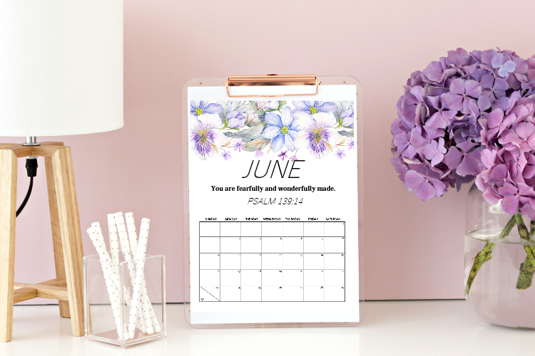 6 FREE Printable Calendars for June to Get Your Schedules Organized!
